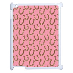 Horse Shoes Iron Pink Brown Apple iPad 2 Case (White)