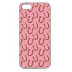 Horse Shoes Iron Pink Brown Apple Seamless iPhone 5 Case (Clear)