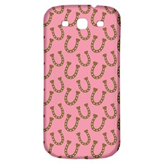 Horse Shoes Iron Pink Brown Samsung Galaxy S3 S III Classic Hardshell Back Case