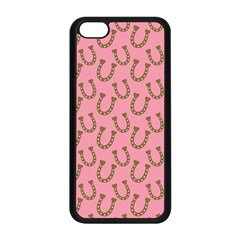 Horse Shoes Iron Pink Brown Apple iPhone 5C Seamless Case (Black)