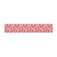 Horse Shoes Iron Pink Brown Flano Scarf (Mini)