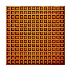 Halloween Squares Plaid Orange Face Towel