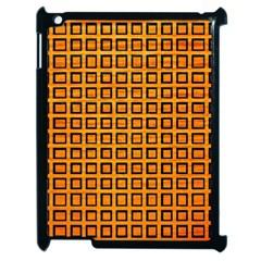 Halloween Squares Plaid Orange Apple iPad 2 Case (Black)