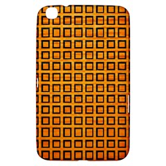 Halloween Squares Plaid Orange Samsung Galaxy Tab 3 (8 ) T3100 Hardshell Case