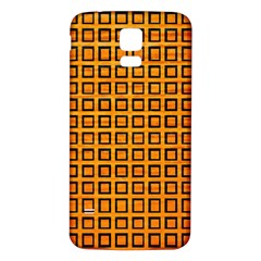 Halloween Squares Plaid Orange Samsung Galaxy S5 Back Case (White)