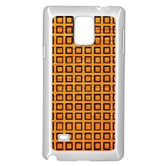 Halloween Squares Plaid Orange Samsung Galaxy Note 4 Case (White)