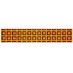 Halloween Squares Plaid Orange Flano Scarf (Large)