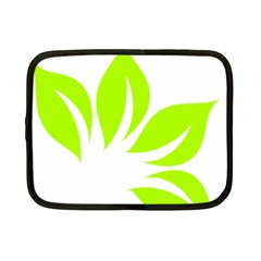 Leaf Green White Netbook Case (Small)