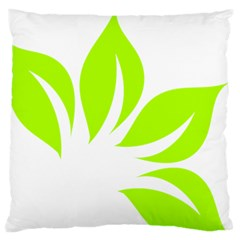 Leaf Green White Large Cushion Case (Two Sides)
