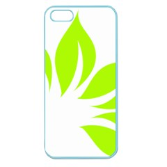 Leaf Green White Apple Seamless iPhone 5 Case (Color)