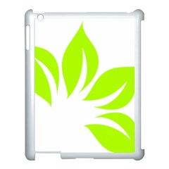 Leaf Green White Apple iPad 3/4 Case (White)