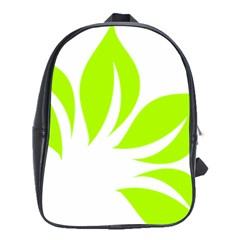 Leaf Green White School Bags (XL)