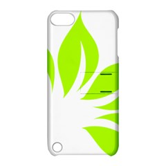 Leaf Green White Apple iPod Touch 5 Hardshell Case with Stand