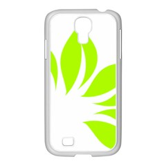 Leaf Green White Samsung GALAXY S4 I9500/ I9505 Case (White)