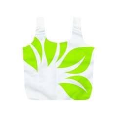 Leaf Green White Full Print Recycle Bags (S)