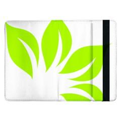 Leaf Green White Samsung Galaxy Tab Pro 12.2  Flip Case