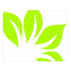Leaf Green White Double Sided Flano Blanket (large)
