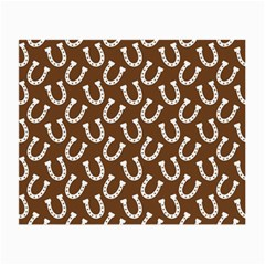 Horse Shoes Iron White Brown Small Glasses Cloth