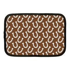 Horse Shoes Iron White Brown Netbook Case (Medium)