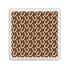 Horse Shoes Iron White Brown Memory Card Reader (Square)