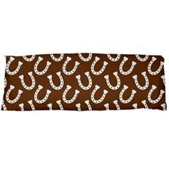 Horse Shoes Iron White Brown Body Pillow Case Dakimakura (Two Sides)