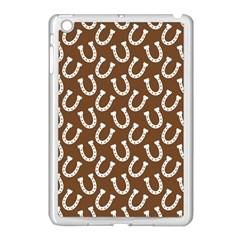 Horse Shoes Iron White Brown Apple iPad Mini Case (White)