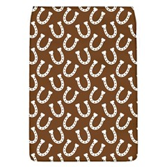 Horse Shoes Iron White Brown Flap Covers (L)