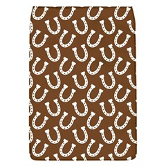 Horse Shoes Iron White Brown Flap Covers (S)
