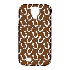 Horse Shoes Iron White Brown Samsung Galaxy S4 Classic Hardshell Case (PC+Silicone)