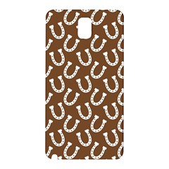 Horse Shoes Iron White Brown Samsung Galaxy Note 3 N9005 Hardshell Back Case