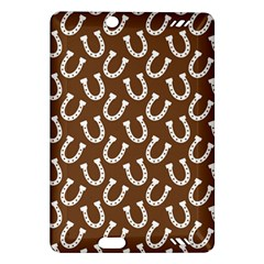 Horse Shoes Iron White Brown Amazon Kindle Fire HD (2013) Hardshell Case