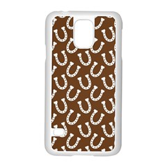 Horse Shoes Iron White Brown Samsung Galaxy S5 Case (white)