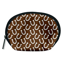 Horse Shoes Iron White Brown Accessory Pouches (Medium)