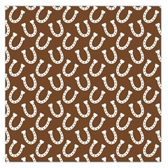 Horse Shoes Iron White Brown Large Satin Scarf (square)
