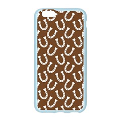 Horse Shoes Iron White Brown Apple Seamless iPhone 6/6S Case (Color)