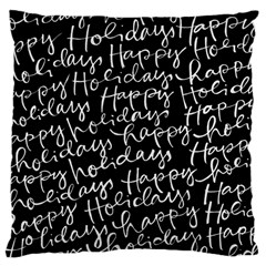 Happy Holidays Large Cushion Case (One Side)