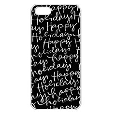 Happy Holidays Apple iPhone 5 Seamless Case (White)