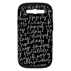 Happy Holidays Samsung Galaxy S III Hardshell Case (PC+Silicone)