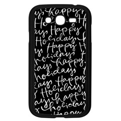 Happy Holidays Samsung Galaxy Grand DUOS I9082 Case (Black)