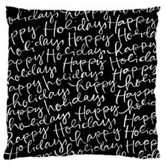 Happy Holidays Large Flano Cushion Case (One Side)