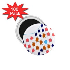 Island Top View Good Plaid Spot Star 1.75  Magnets (100 pack)