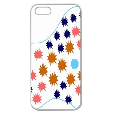 Island Top View Good Plaid Spot Star Apple Seamless iPhone 5 Case (Clear)