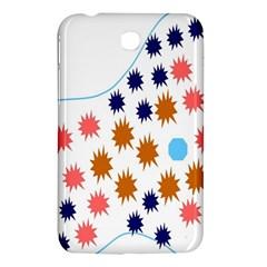 Island Top View Good Plaid Spot Star Samsung Galaxy Tab 3 (7 ) P3200 Hardshell Case