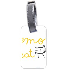 Lemon Animals Cat Orange Luggage Tags (Two Sides)