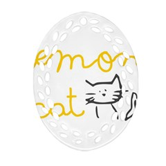 Lemon Animals Cat Orange Ornament (Oval Filigree)