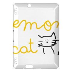 Lemon Animals Cat Orange Kindle Fire HDX Hardshell Case
