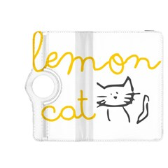 Lemon Animals Cat Orange Kindle Fire HDX 8.9  Flip 360 Case
