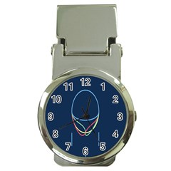 Line Light Blue Green Red Yellow Money Clip Watches