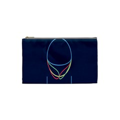 Line Light Blue Green Red Yellow Cosmetic Bag (Small)