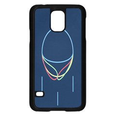 Line Light Blue Green Red Yellow Samsung Galaxy S5 Case (Black)